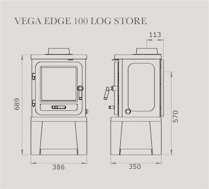 Vega Edge 100 Log Store Dimensions