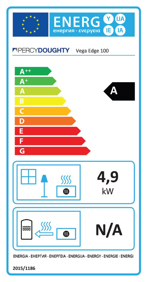 Vega Edge 100 Stove Energy Rating