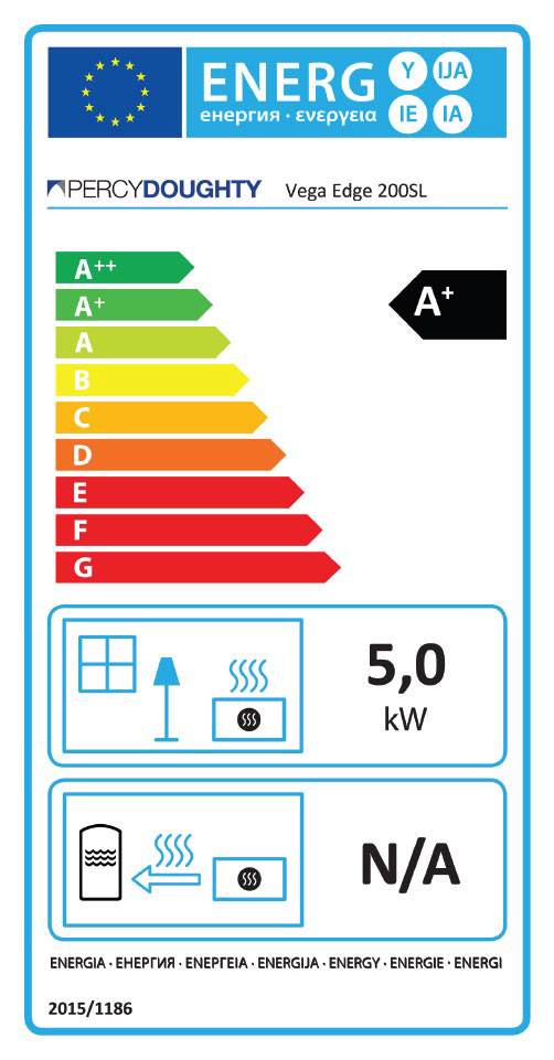 Vega Edge 200SL Stove Energy Rating